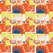 Flowers Centers with Orange 18x21