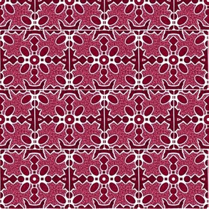 Marble Mosaic Small Tiles in Berry