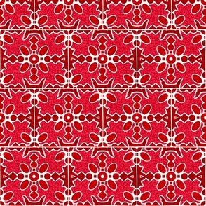 Marble Mosaic Small Tiles in Red