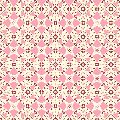 Wild Berries and Cream fabric by inscribed_here on Spoonflower - custom fabric