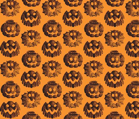 Halloween animals fabric by zandloopster on Spoonflower - custom fabric