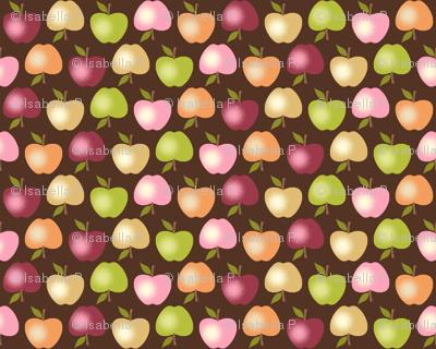 Autumn Apples - Brown