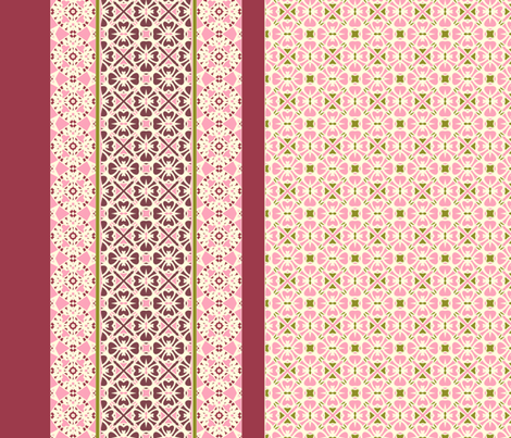 Wild Berry and Rhubarb Tart fabric by inscribed_here on Spoonflower - custom fabric