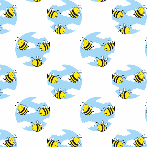 Little Bees fabric by shelleymade on Spoonflower - custom fabric