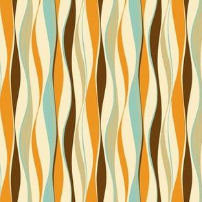 wavy lines retro