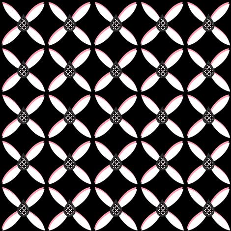 Star Flower Pink Trelldrops - © PinkSodaPop 4ComputerHeaven.com fabric by pinksodapop on Spoonflower - custom fabric