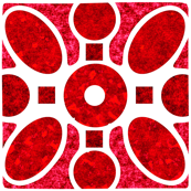 Marble Mosaic Square Tiles in Red