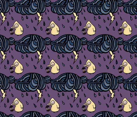 Thunderstorm fabric by pond_ripple on Spoonflower - custom fabric