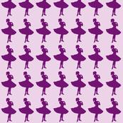 Purple ballet dancers - large