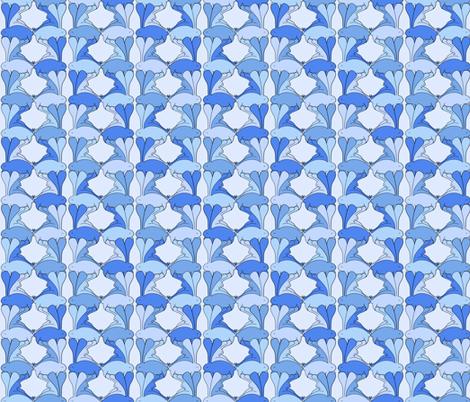 Aplin Bunnies - Bluebell fabric by beth_snow on Spoonflower - custom fabric