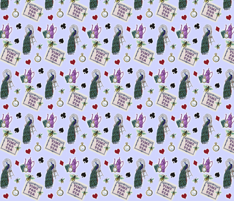 Time for Tea (small) fabric by glanoramay on Spoonflower - custom fabric