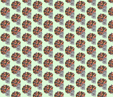Skelegirl (small) fabric by glanoramay on Spoonflower - custom fabric