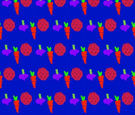ROOT_VEGIES fabric by artitbymandra on Spoonflower - custom fabric
