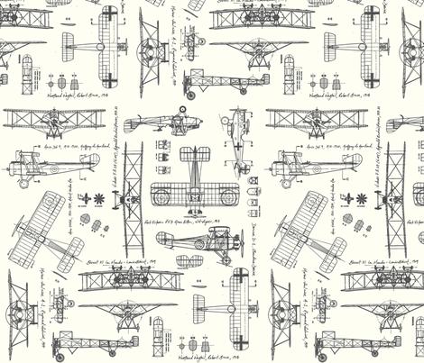 WW1 Grey/Cream fabric by savannahlindsay on Spoonflower - custom fabric