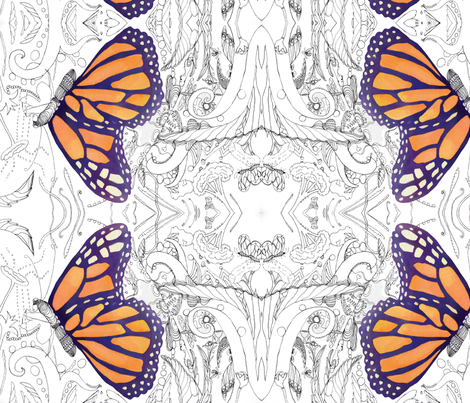 butterfly_inspiration fabric by aftermyart on Spoonflower - custom fabric