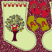 Partridge in a Pear Tree - Christmas Stocking