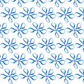Bright Blue teardrop flowers