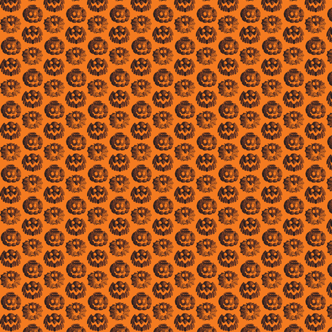 Halloween animals small fabric by zandloopster on Spoonflower - custom fabric
