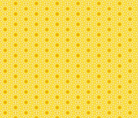 retflower_yellow fabric by lilliblomma on Spoonflower - custom fabric