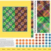 Portable Checkers Game & Drawstring Bag