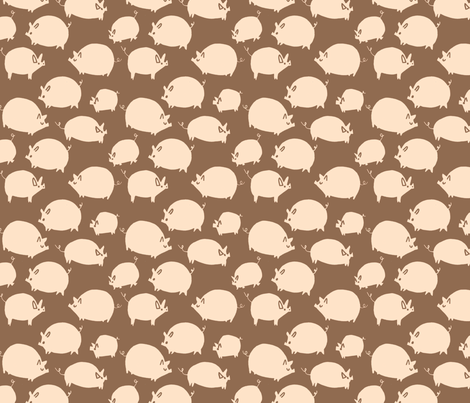Pigs fabric by philippa_rice on Spoonflower - custom fabric