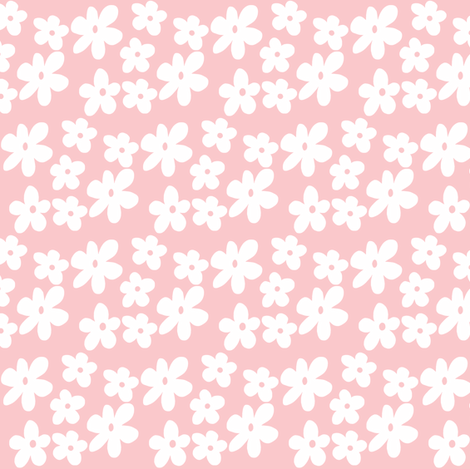 Baby pink daisy flowers wallpaper tonielaine spoonflower baby pink daisy flowers fabric by tonielaine on spoonflower custom fabric mightylinksfo
