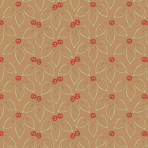 leavesnberries-AUTUMN fabric by glimmericks on Spoonflower - custom fabric