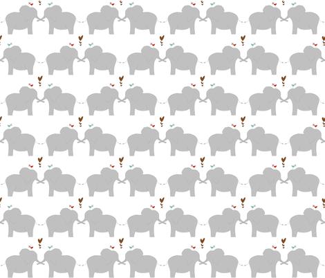 Elephants in Love fabric by meg56003 on Spoonflower - custom fabric