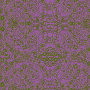 paisley green-lilac