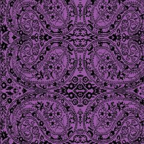 paisley black-lilac