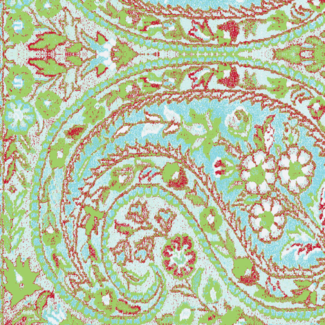 paisley green-turquoise-red fabric by miss_blümchen on Spoonflower - custom fabric