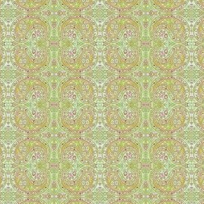 paisley green-honey-red small
