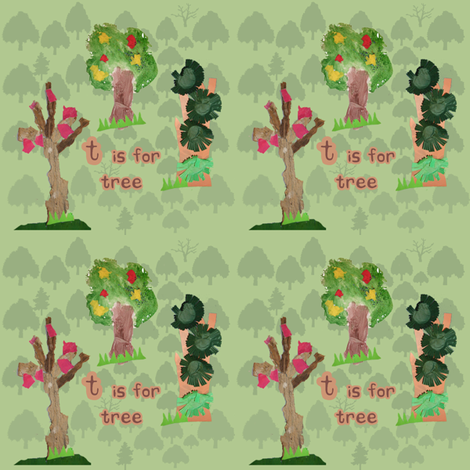 Toddler Trees fabric by upcyclepatch on Spoonflower - custom fabric