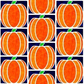 Marble Mosaic Pumpkin Tiles in Blue