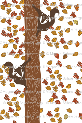 Climbing Squirrels white background