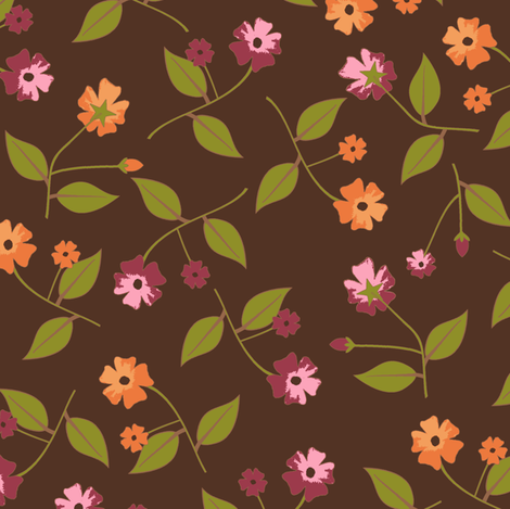 Flowers  for the Table - Spice fabric by inscribed_here on Spoonflower - custom fabric