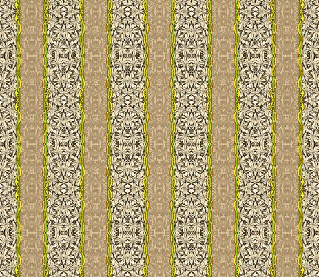 Daisy Chain Stripe fabric by robin_rice on Spoonflower - custom fabric