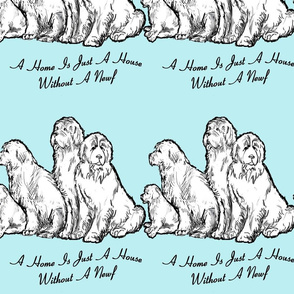 Newfoundland dog home vs house fabric or wallpaper