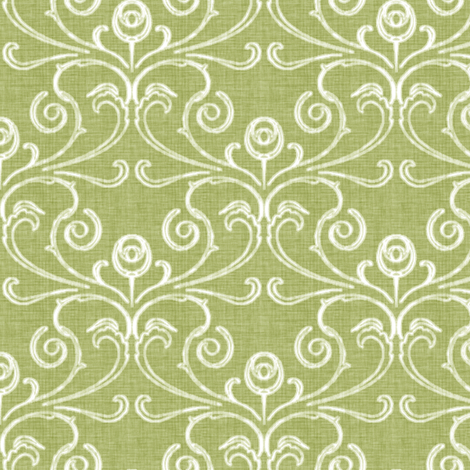 Petite Faded French Rose - Green fabric by kristopherk on Spoonflower - custom fabric