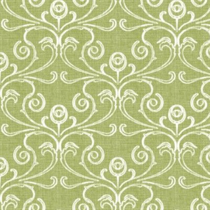 Petite Faded French Rose - Green