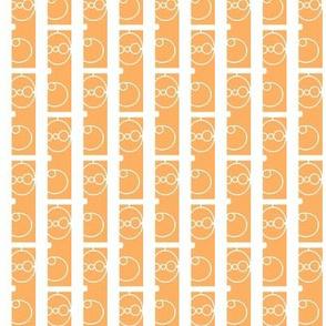 Wrought white on orange