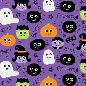 halloween cuties on purple