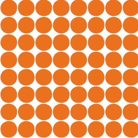 dots orange fabric by misstiina on Spoonflower - custom fabric