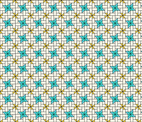 Star Mosaic 5 fabric by zigzagza on Spoonflower - custom fabric