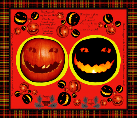 Punkinhead Jones Night & Day Pillow Plushie fabric by peacoquettedesigns on Spoonflower - custom fabric