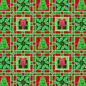 Marble Mosaic Christmas Tile Patchwork