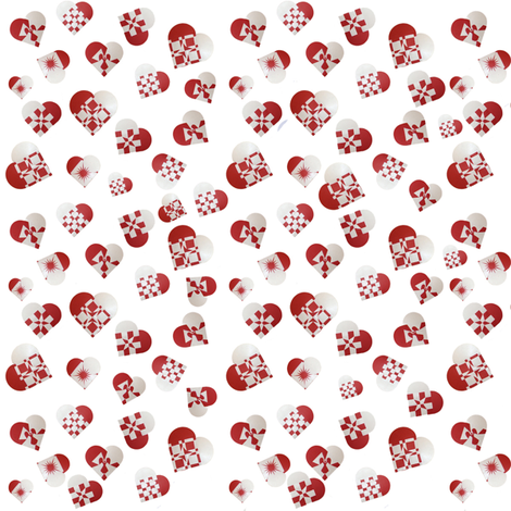 ditzyhearts fabric by upcyclepatch on Spoonflower - custom fabric