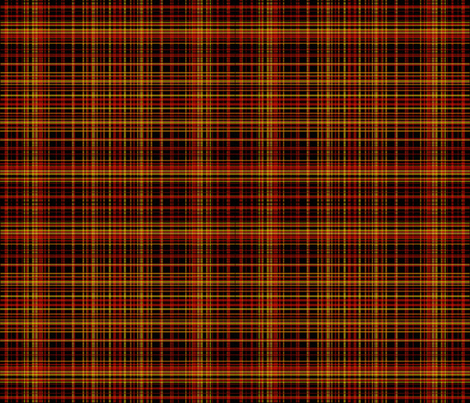 Punkinhead Jones Punkinheaded Plaid fabric by peacoquettedesigns on Spoonflower - custom fabric