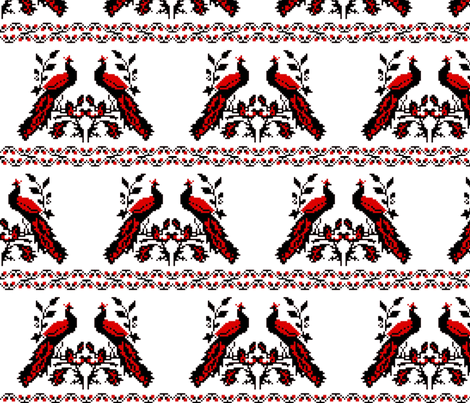 an-1_peacock_8 fabric by whotookmyname on Spoonflower - custom fabric