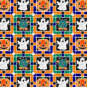 Marble Mosaic Halloween Tile Patchwork
